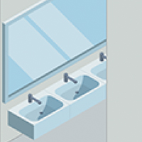 Hands-free faucet fixtures in washrooms